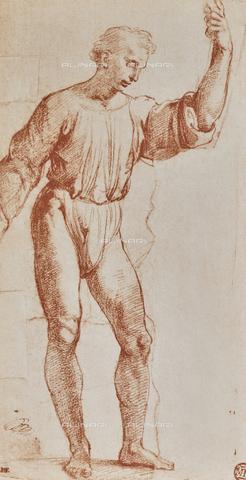 DIS-F-001538-0000 - Studio per il cartone raffigurante Cristo che dà le chiavi a San Pietro, disegno di Raffaello, Museo del Louvre, Parigi