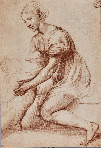 DIS-F-001539-0000 - Study for the Holy Family of Francis I; drawing by Raphael, The Louvre, Paris