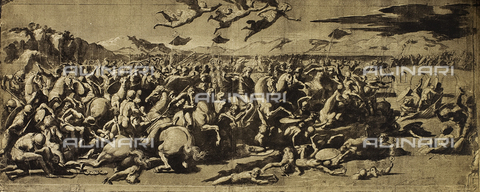DIS-F-001541-0000 - The Battle of Constantine; drawing by Raphael. The Louvre, Paris