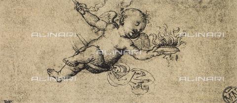 DIS-F-001549-0000 - Un putto, disegno di Raffaello, Museo del Louvre, Parigi