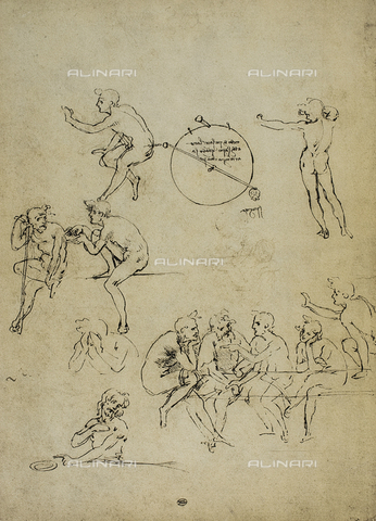 DIS-F-001602-0000 - Study of sitting figures, Louvre Museum, Paris.