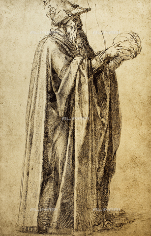 DIS-F-001676-0000 - Figure of a cloaked old man, British Museum, London