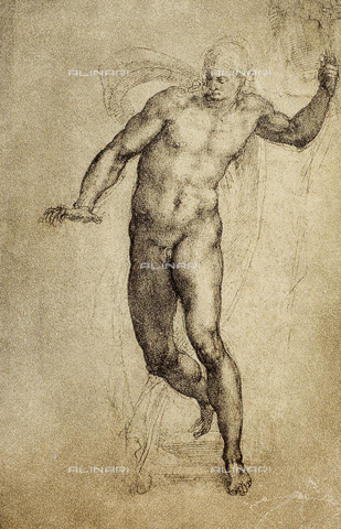 DIS-F-001679-0000 - Study of a nude male, British Museum, London