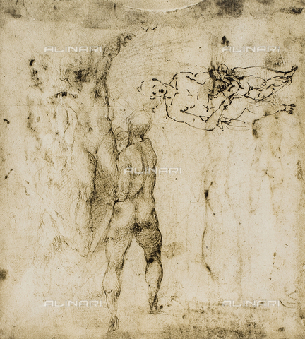 DIS-F-001682-0000 - Study for a Madonna and Child with some nude figures, British Museum, London
