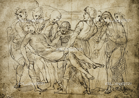 DIS-F-001705-0000 - Deposition; drawing by Raphael. British Museum, London