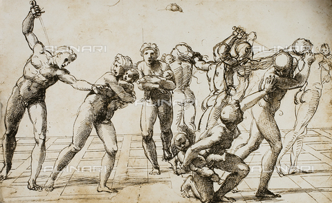 DIS-F-001714-0000 - Massacre of the Innocents, study by Raphael, British Museum, London