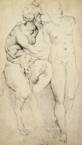 DIS-F-001725-0000 - Study of a satyr with an adolescent, Raphael, British Museum, London