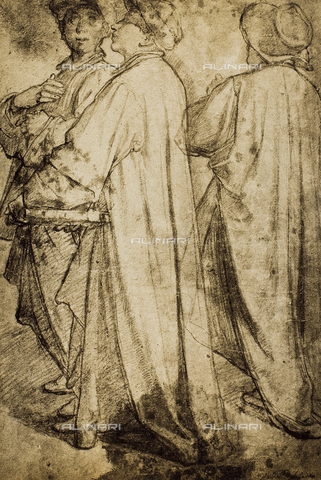 DIS-F-001747-0000 - Study of a group of male figures; drawing from the school of Andrea del Sarto. British Museum, London