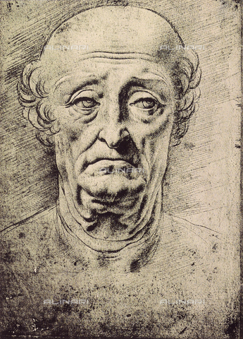 DIS-F-001781-0000 - Portrait of an old man, drawing, British Museum, London