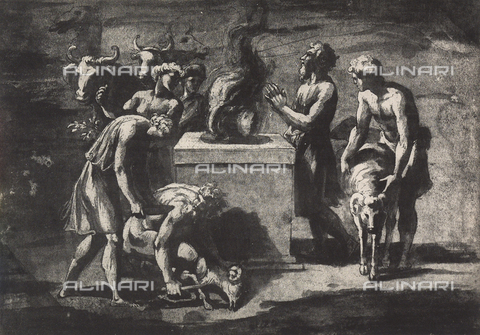 DIS-F-003957-0000 - Study for the sacrifice of Noah; drawing by Raphael, Graphische Sammlung, Albertina, Vienna