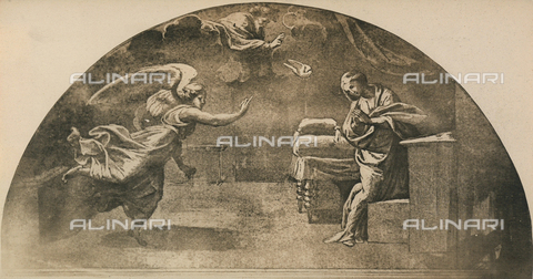 DIS-F-003965-0000 - Annunciation; drawing by Raphael, Graphische Sammlung, Albertina, Vienna