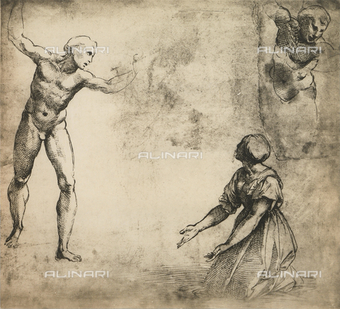 DIS-F-003967-0000 - Study for the Massacre of the Innocents; drawing by Raphael, Graphische Sammlung, Albertina, Vienna