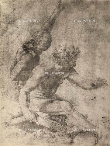 DIS-F-003971-0000 - Study for two apostles of the Transfiguration of Christ, Graphische Sammlung, Albertina, Vienna