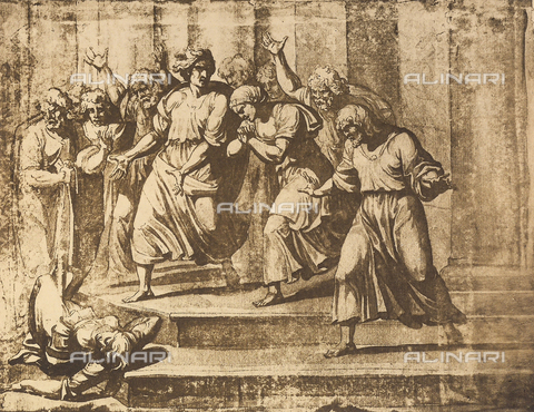 DIS-F-003977-0000 - The wife of Ananias dead on the steps of the Temple, Graphische Sammlung, Albertina, Vienna