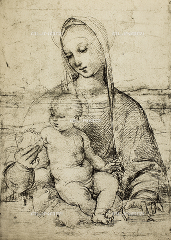DIS-F-003979-0000 - Study of a Madonna and Child, Albertina, Graphische Sammlung, Vienna