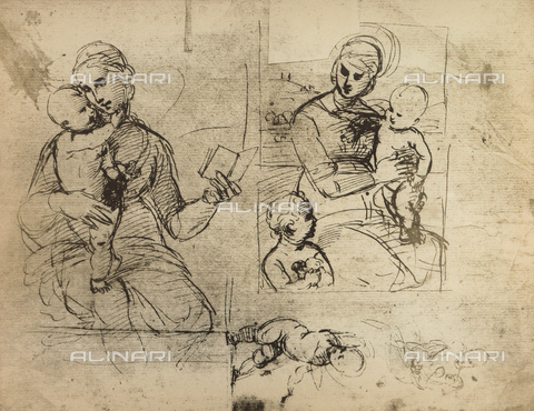 DIS-F-003984-0000 - Two studies of the Madonna and Child, Graphische Sammlung Albertina, Vienna