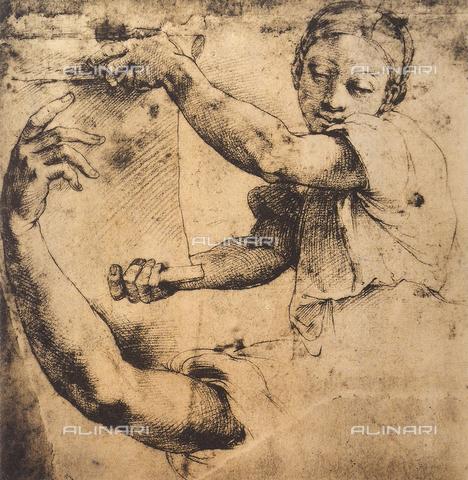 DIS-F-003997-0000 - The Sibyl Cumea, Graphische Sammlung, Albertina, Vienna