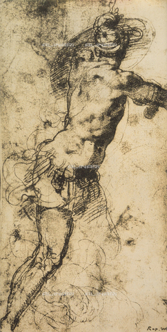 DIS-F-004004-0000 - Study for a warrior seen from the rear; drawing by Raphael, Graphische Sammlung Albertina, Vienna