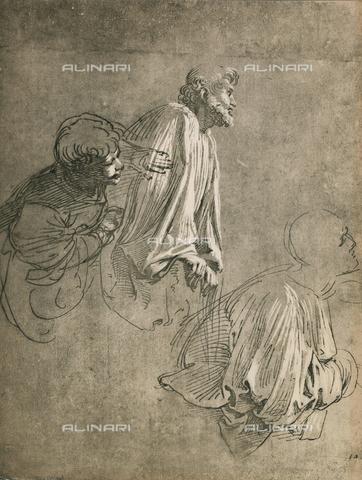 DIS-F-004012-0000 - Tre cantori; disegno di Raffello, Graphische Sammlung, Albertina, Vienna