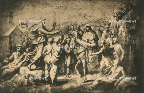 DIS-F-004019-0000 - The entry of Giovanni de'Medici into Florence; drawing by Raphael, Graphische Sammlung, Albertina, Vienna