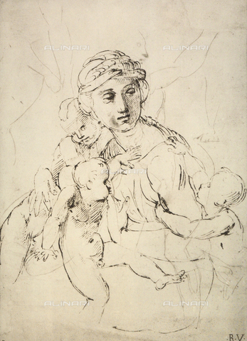 DIS-F-004020-0000 - Charity; drawing by Raphael, Graphische Sammlung, Albertina, Vienna