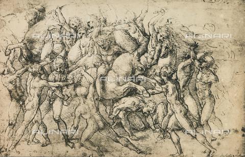 DIS-F-004022-0000 - Combattimento di cavalieri; disegno di Raffello, Graphische Sammlung, Albertina, Vienna