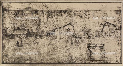 DIS-F-004036-0000 - Studio per una veduta di paese; disegno di Raffello, Graphische Sammlung, Albertina, Vienna