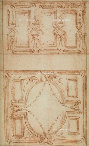 DIS-F-01050A-0000 - Architectonic sketch; drawing by Michelangelo, Casa Buonarroti, Florence
