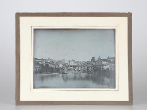 DVQ-F-000880-0000 - Il Ponte Rotto a Roma, visto da valle. Dagherrotipo a placca intera - Data dello scatto: 1844 ca. - Archivi Alinari, Firenze
