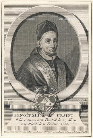 EVA-S-001003-7447 - Portrait of Pope Benedict XIII (Pietro Francesco Orsini), engraving - © Mary Evans / Alinari Archives