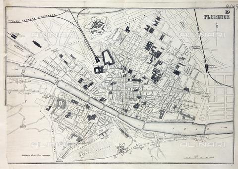 EVA-S-001047-4584 - Mappa della città di Firenze, XIX sec. - The National Archives, London / © Mary Evans / Archivi Alinari