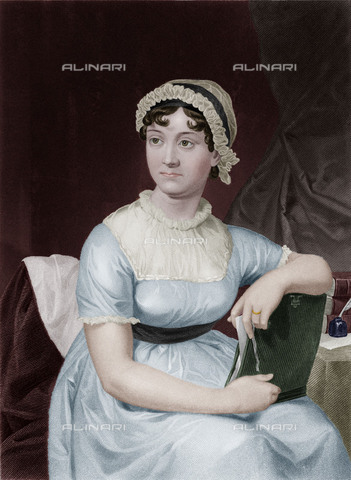 EVA-S-001135-4728 - The English writer Jane Austen, painted by a sketch of her sister Cassandra - © Mary Evans / Alinari Archives