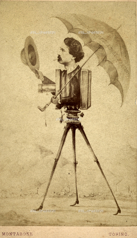 FBC-F-002187-0000 - Caricature of photographer-camera - Data dello scatto: 1865 ca. - Archivi Alinari, Firenze