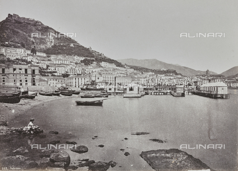 "FBQ-A-006084-0034 - Album ""Pompejj"": View of Salerno - Data dello scatto: 1870 ca. - Archivi Alinari, Firenze"