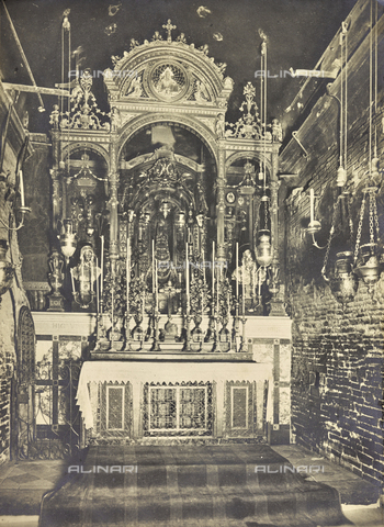 """FBQ-A-006160-0001 - Album """"The New Works in the Santa Casa di Loreto / Homage of the architect Guido Cirilli"""": """"The interior before the fire"""" - Date of photography: 1919-1920 - Fratelli Alinari Museum Collections, Florence"""