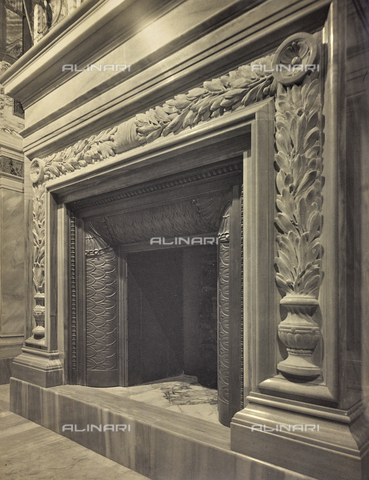 """FBQ-A-006160-0016 - Album """"The New Works in the Holy House of Loreto / Homage of the architect Guido Cirilli"""": """"Santo Camino"""" (reconstruction after the demolitions following the fire) - Date of photography: 1922-1930 - Fratelli Alinari Museum Collections, Florence"""