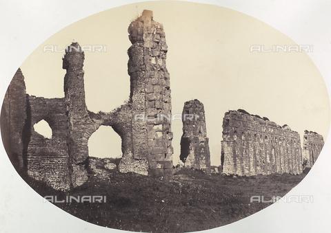 FBQ-A-006263-0003 - L'Acquedotto Claudio a Roma - Data dello scatto: 1857 - Raccolte Museali Fratelli Alinari (RMFA), Firenze