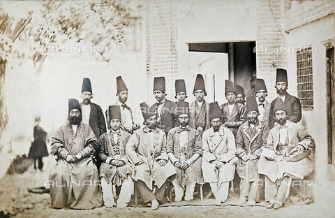 FBQ-A-006327-0006 - Members of the court in traditional clothing. Iran - Data dello scatto: 1860 ca. - Archivi Alinari, Firenze