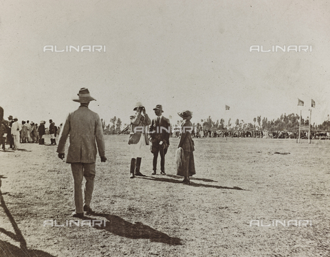 FBQ-A-006620-0089 - Album of the Marquis Giuseppe Colli Felizzano - Ethiopia / Argentina: People on the polo field, Addis Ababa