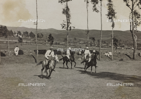 FBQ-A-006620-0153 - Album of the Marquis Giuseppe Colli Felizzano - Ethiopia / Argentina: game of polo, Addis Ababa