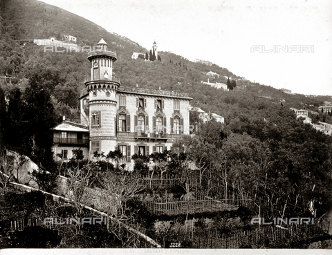 FBQ-F-000363-0000 - Castel Ponzoni in Nervi, Italy, surrounded by rich vegetation - Data dello scatto: 1870 - 1880 - Archivi Alinari, Firenze