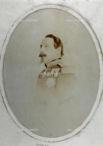 FBQ-F-000502-0000 - Ritratto a mezzo busto di Carlo Luigi Napoleone III, Imperatore dei Francesi - Data dello scatto: 1860 ca. - Raccolte Museali Fratelli Alinari (RMFA), Firenze
