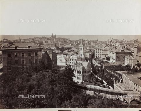 FBQ-F-001138-0000 - Ampia veduta panoramica di Genova - Data dello scatto: 1870 -1880 ca. - Raccolte Museali Fratelli Alinari (RMFA), Firenze
