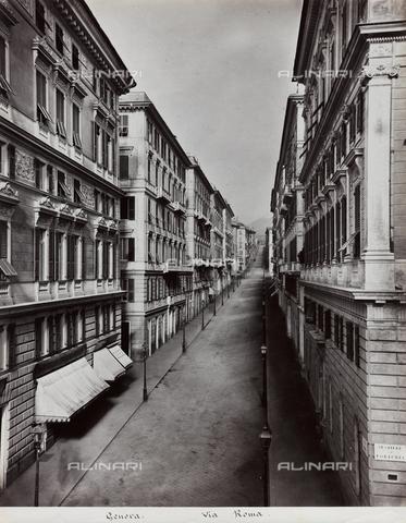 FBQ-F-001157-0000 - Veduta non animata di Via Roma a Genova - Data dello scatto: 1872 -1880 ca. - Raccolte Museali Fratelli Alinari (RMFA), Firenze