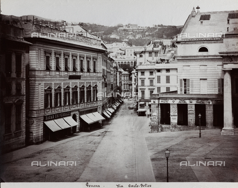 FBQ-F-001159-0000 - Veduta di Via XXV Aprile (già Via Carlo Felice) a Genova - Data dello scatto: 1870 -1880 ca. - Raccolte Museali Fratelli Alinari (RMFA), Firenze