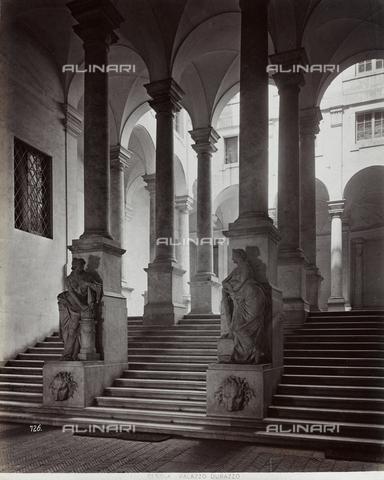 FBQ-F-001165-0000 - Veduta dell'atrio di Palazzo Durazzo Pallavicini a Genova - Data dello scatto: 1870 -1880 ca. - Raccolte Museali Fratelli Alinari (RMFA), Firenze