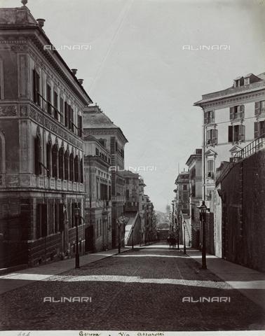 FBQ-F-001173-0000 - Perspective view of Via Assarotti in Genoa - Data dello scatto: 1870 - 1880 - Archivi Alinari, Firenze