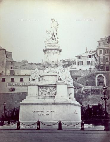 FBQ-F-001190-0000 - Veduta del monumento a Cristoforo Colombo eretto in Piazza Acquaverde, a Genova - Data dello scatto: 1870 -1880 ca. - Raccolte Museali Fratelli Alinari (RMFA), Firenze