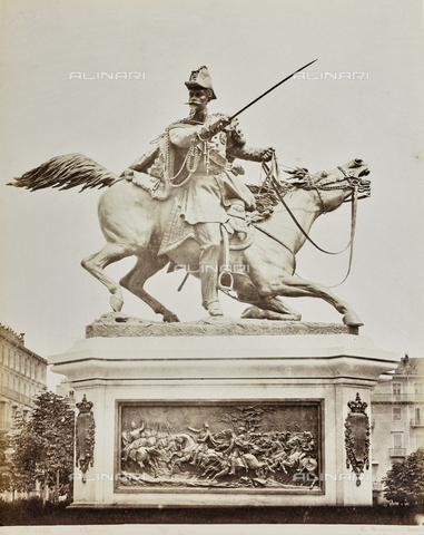 FBQ-F-001277-0000 - Monument to Ferdinand of Savoy, Duke of Genoa, Alfonso Balzico (1825-1901), Piazza Solferino, Turin - Data dello scatto: 1870 ca. - Archivi Alinari, Firenze