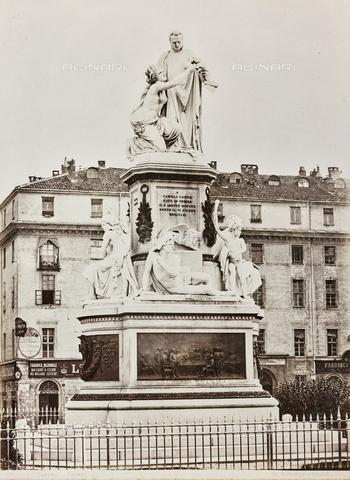 FBQ-F-001278-0000 - Monument Count Camillo Benso di Cavour, Giovanni Dupré (1817-1882), Piazza Carlo Emanuele II, Torino - Data dello scatto: 1870 ca. - Archivi Alinari, Firenze